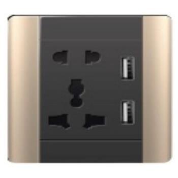Ổ cắm đa năng + 2 Sạc USB 5v, 2.1A A68-C06E24