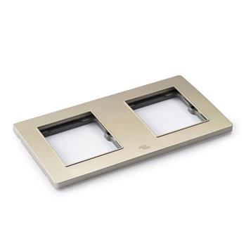 Mặt viền đôi liền nhựa vàng A77-P19D