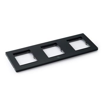 Mặt viền ba liền nhựa đen A77-P20D