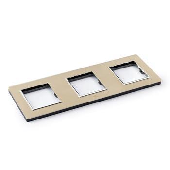 Mặt viền ba liền nhựa vàng A77-P20D