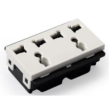 Hạt ổ cắm đôi 3 chấu size L A83-2MC03