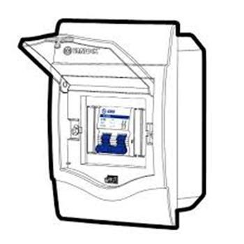 Tủ điện mặt nhựa bóng, đế nhựa chứa 2-4 Module V4FC 2/4SA