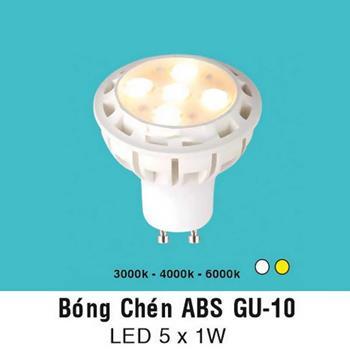 Bóng chén ABS GU 10 LED 5 x 1W ABS GU 10