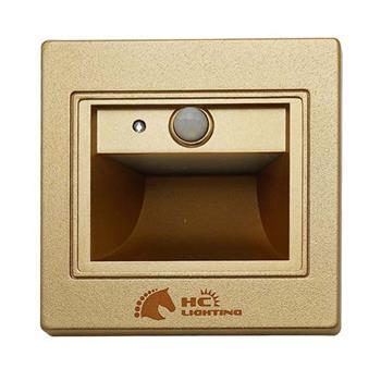 Đèn âm cầu thang cảm ứng 1.5W, vỏ vàng ACTVVCU