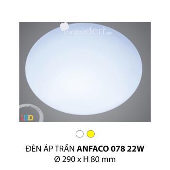 Đèn ốp trần bóng huỳnh quang Anfaco AFC 078 22W AFC 078 22W
