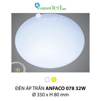 Đèn ốp trần bóng huỳnh quang Anfaco AFC 078 32W AFC 078 32W
