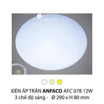 Đèn áp trần led 3 chế độ Anfaco AFC 078 12W 3C AFC 078012W 3C