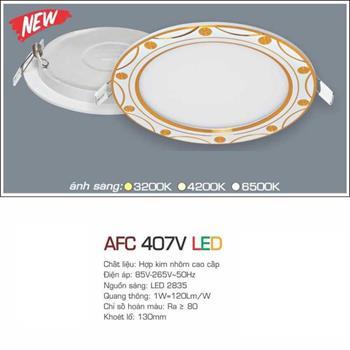 Đèn âm trần hoa văn siêu mỏng cao cấp Anfaco AFC 407V AFC 407V