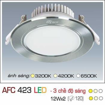 Đèn âm trần downlight Anfaco 3 chế độ AFC 423 12Wx2 3C AFC 423 12Wx2 3C