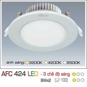 Đèn âm trần downlight Anfaco 3 chế độ AFC 424 9W 3C AFC 424 9Wx2 3C