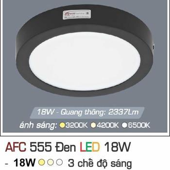Đèn ốp trần cao cấp 3 chế độ Anfaco AFC 555 ĐEN 18W 3C AFC 555 DEN 18W 3C