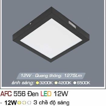 Đèn ốp trần cao cấp 3 chế độ Anfaco AFC 556 ĐEN 12W 3C AFC 556 DEN 12W 3C
