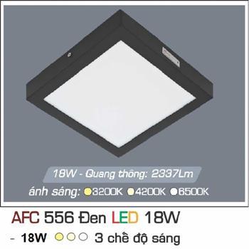 Đèn ốp trần cao cấp 3 chế độ Anfaco AFC 556 ĐEN 18W 3C AFC 556 DEN 18W 3C