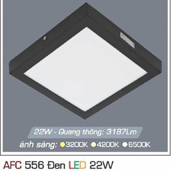 Đèn ốp trần cao cấp 3 chế độ Anfaco AFC 556 ĐEN 22W 3C AFC 556 DEN 22W 3C