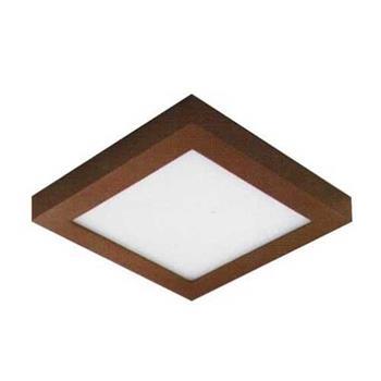 Đèn ốp trần cao cấp Anfaco Led 12W vuông, vỏ nâu AFC 556 Nâu LED 12W