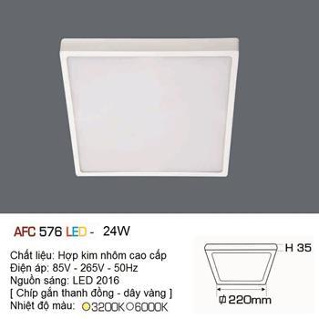 Đèn ốp trần cao cấp Anfaco AFC 576 24W AFC 576 24W