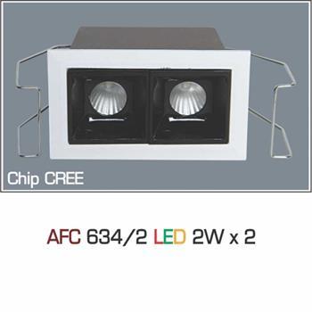 Đèn âm trần downlight Anfaco AFC 634/2 2Wx2 1C AFC 634/2 2Wx2 1C
