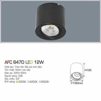 Đèn ốp nổi cao cấp Anfaco AFC 647D vỏ đen AFC 647D