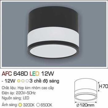 Đèn ốp nổi cao cấp Anfaco AFC 648D - 12W  AFC 648D