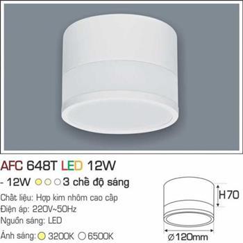 Đèn ốp nổi cao cấp Anfaco AFC 648T - 12W  AFC 648T