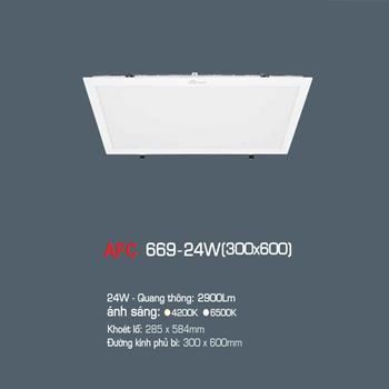 Đèn led panel tấm Anfaco 24W 0.3x0.6m AFC 669 24W