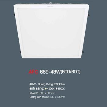 Đèn led panel tấm Anfaco 48W 0.6x0.6m AFC 669 48W