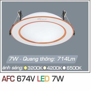 Đèn âm trần downlight Anfaco AFC 674V 7W 1C AFC 674V 7W