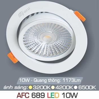Đèn âm trần downlight Anfaco AFC 689 10W AFC 689 10W