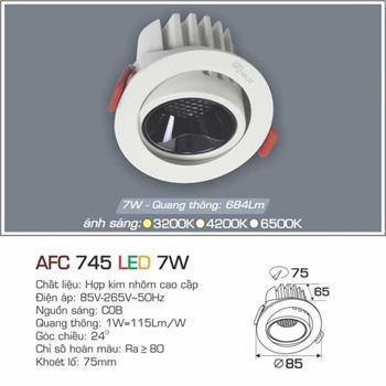 Đèn âm trần cao cấp Anfaco AFC 745 - 7W AFC 745