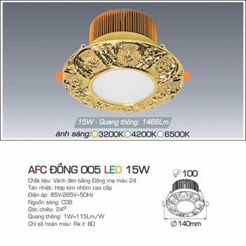 Đèn âm trần đồng cao cấp Anfaco AFC ĐỒNG 005 - 15W AFC ĐỒNG 005 - 15W