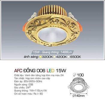 Đèn âm trần đồng cao cấp Anfaco AFC ĐỒNG 006 - 15W AFC ĐỒNG 006 - 15W