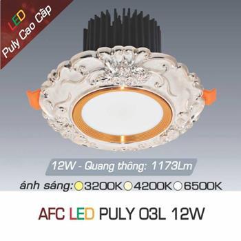 Đèn âm trần đồng puly cao cấp Anfaco AFC PULY 03L - 12W AFC PULY 03L - 12W