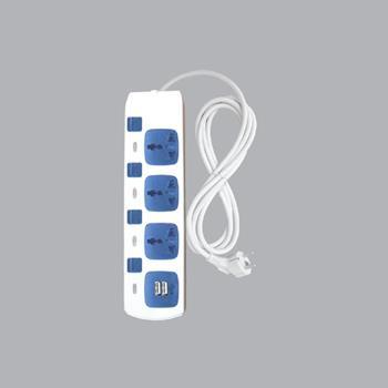 Ổ cắm di động 3 ổ cắm đơn đa năng + 2 ổ cắm sạc USB AM4S-2USB