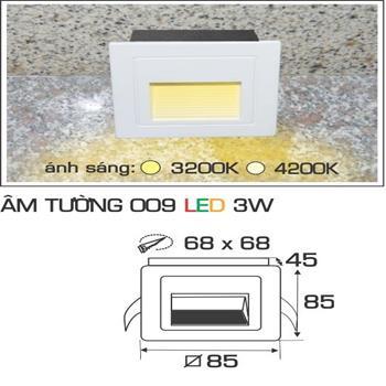 Đèn âm tường 009 3W AMTUONG 009 3W