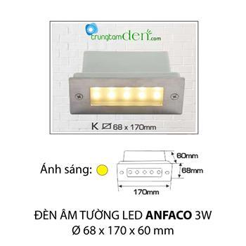 Đèn âm tường K 3W AMTUONG K 3W