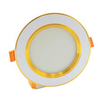 Đèn âm trần viền vàng đế mũ 3 màu 7W ATT7-MV