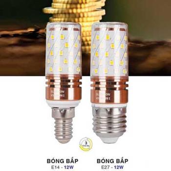Bóng bắp LED E14 & E27 12W Bóng bắp