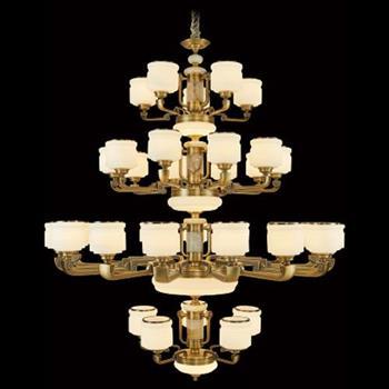 Đèn chùm nến hợp kim cao cấp Ø1500*H1900, E27*35 LED C-160/5+15+10+5