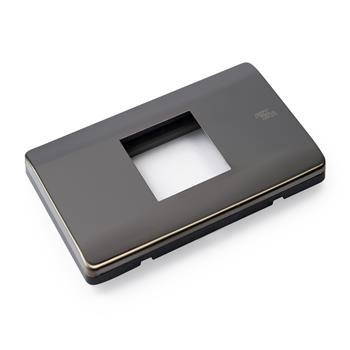 Mặt viền đơn C16 INOX đen bóng C16-P05