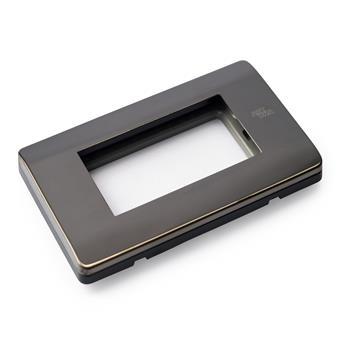 Mặt viền đôi C16 INOX đen bóng C16-P06