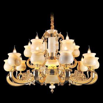 Đèn chùm nến chao đá ngọc Ø1000xH580, LED - E14x15 CN-1925/10+5