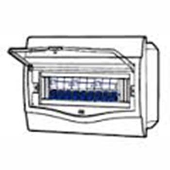 Tủ điện mặt nhựa bóng, đế nhựa chứa 9-12 Module V4FC 9/12SA