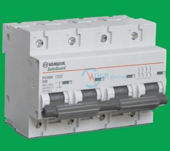 Thiết bị đóng cắt MCB 4P 80A 10kA PS100H/4/D80