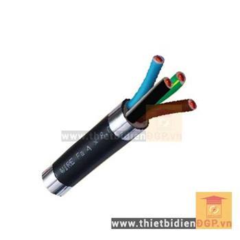 Dây cáp pha mềm 4 lõi, Cu/PVC/PVC - 0.6/ 1kV - TCVN 5935  VVCm - 4x10