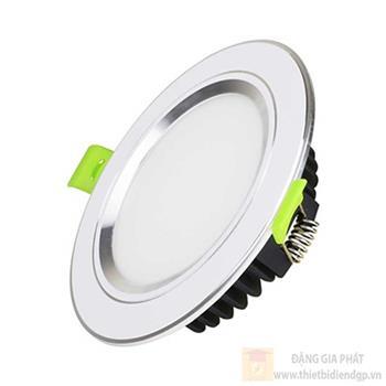 Đèn led âm trần viền màu bạc (EC-DLSS Series) mặt phẳng 9W EC-DL-9SS-T118-x-PB