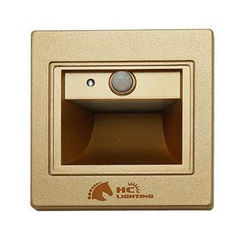 Đèn âm cầu thang cảm ứng (vỏ vàng) 1.5W ACT-MV-CU