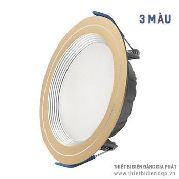 Đèn Downlight LED viền nhôm ánh sáng ba màu ELD2028