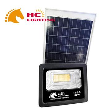 Đèn pha năng lượng mặt trời Luxury 10w (cả bộ) DPNLMT10W