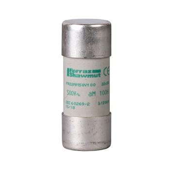 Cầu chì bảo vệ - Tesys GS, cylindrical, 22 mm x 58 mm, fuse type aM, 500 VAC, 100 A, without striker DF2FA100