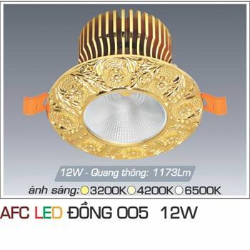 Đèn âm trần trang trí Anfaco AFC ĐỒNG 005 12W AFC ĐỒNG 005 12W
